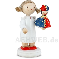 Girl with Kasperle Puppet red/blue
