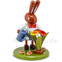 Easter Bunny with Flowers and Watering Can 16 cm