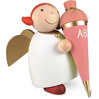 Schutzengel Größe 5 mit Schultüte rosa