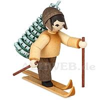Baummauser Junge auf Ski gebeizt von Ulmik