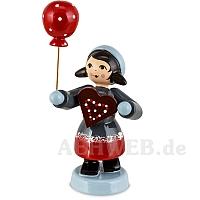 Pfefferkuchenmädchen mit Ballon rot