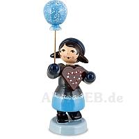 Pfefferkuchenmädchen mit Ballon blau