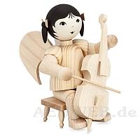 Schleifenengel auf Hocker mit Cello • natur