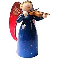 Engel reich bemalt groß mit Violine blau