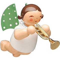 Engel mit Trompete schwebend
