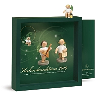 Calendar 2019 with figure Angel with Lantern