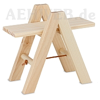 Folding ladder with two extension boards