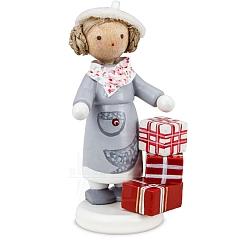 Mädchen mit Geschenken