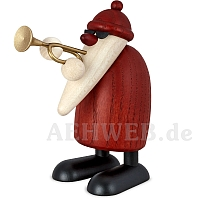 Weihnachtsmann mit Trompete
