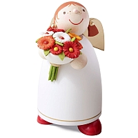 Guardian angel Size 3 with Bunch of Flowers