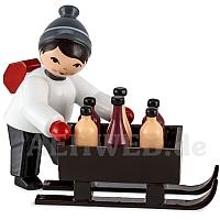 Junge mit Flaschenschlitten rot von Ulmik