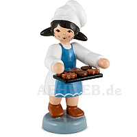 Bäckermädchen mit Tablett blau von Ulmik