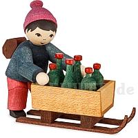 Junge mit Flaschenschlitten gebeizt von Ulmik