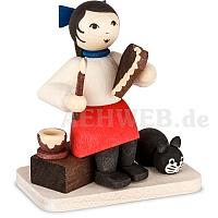 Bäckermädchen sitzend gebeizt von Ulmik