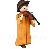 Musikant mit Geige 22 cm gebeizt