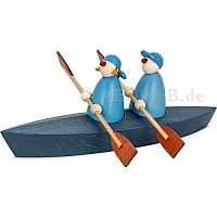 Canoeing two persons blue