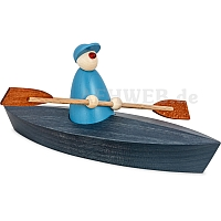Canoeing one persons blue