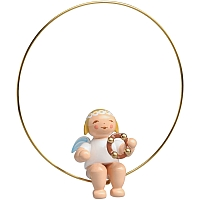 Christmas Tree Angel in a Ring with Headless Tambourine