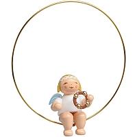 Christbaumengel im Ring mit Schellenring
