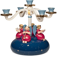 Four Arm Candelabra with 4 Angels