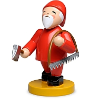 Gnome with Bow Saw and Axe