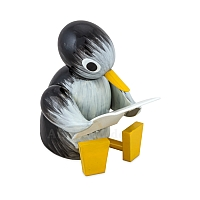 Pinguin groß lesend