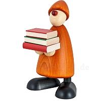 Gratulant Billy groß mit Büchern gelb
