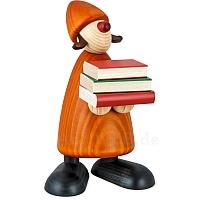 Gratulant Lilly groß mit Büchern gelb