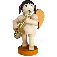 Schleifenengel mit Saxophon limitiert gebeizt