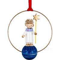 Weihnachtsschmuck Engel Junge mit Stern