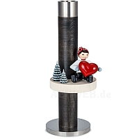 Candlestick black with Boy and Heart