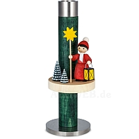 Candlestick green with Carolers