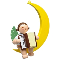 Angel with Accordion in Moon