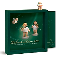Calendar 2021 with figure Angel with Splinter Box