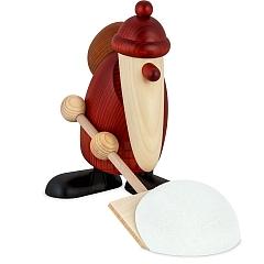 Weihnachtsmann mit Schneeschieber 19 cm