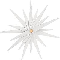 Folded wooden star white wood