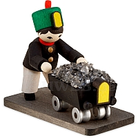 Winter child miner with minecart stained