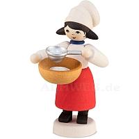 Plätzchenbäckerin mit Sieb gebeizt