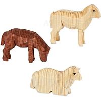 Drei Schafe gebeizt