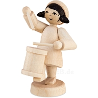 Winter musician girl with drum natural from Ulmik