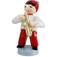 Winter musician boy with saxophone red from Ulmik