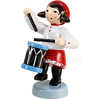 Winter musician girl with drum red from Ulmik