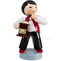Winter child boy with coffee grinder red from Ulmik