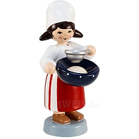 Winter child cookie baker girl red with sieve from Ulmik
