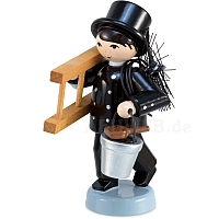 Winter child chimney sweep lacquered from Ulmik