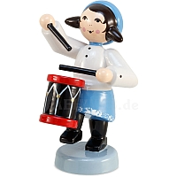 Winter musician girl with drum blue from Ulmik