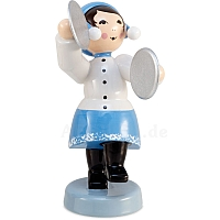 Winter musician girl with cymbals blue from Ulmik