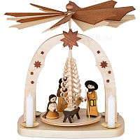 Arch Pyramid Manger with candles