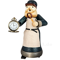 Smoking Man Watchmaker with Clock stained from Ulmik