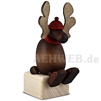 Elk Olaf sitting on edge